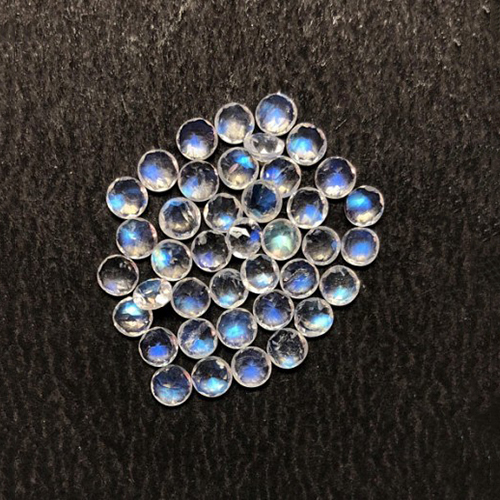Rainbow Moonstone Faceted Round Gemstone