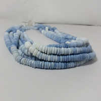 Natural Blue Opal Shaded Smooth Tyre Beads
