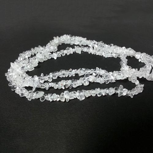 Natural Crystal Quartz Uncut Chips Beads Strand