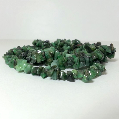 Natural Emerald Uncut Chips Beads Strand