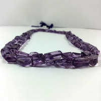 Natural Brazilian Amethyst Faceted Nuggets Beads Strand
