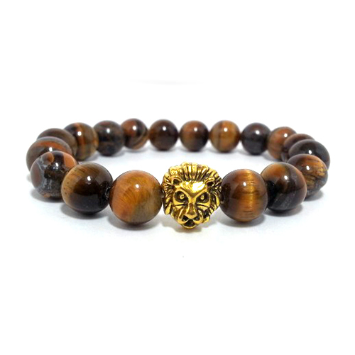 Natural Tiger Eye Stone Beads Bracelet