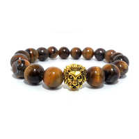 Natural Tiger Eye Stone Beads Bracelet