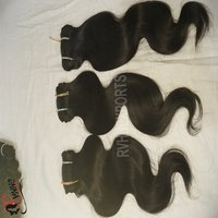 Wholesale Natural Wavy Indian Temple Hair Cuticle Aligned