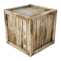 Industrial wooden crate