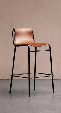 Iron Pipe Bar chair with Wooden Seat and back