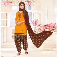 Designer Cotton Patiala Suit