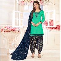 Designer Cotton Patiala Suit