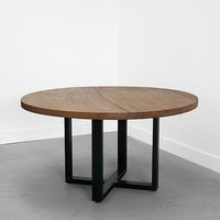 Round Pipe Coffee Tabl With Reclaim Wood Top