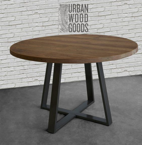 Round Coffee Table With Iron Bars