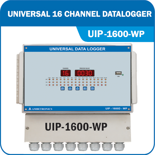 16 Channel Panel Mounted Universal Input Data Logger