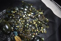 Black Rainbow Polished Stone