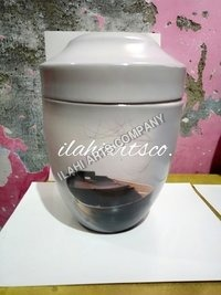 Metal Boat Hand Painted Urn