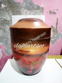 Evening Rose Hand Painted Urn