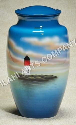 LightHouse Hand Painted Urn