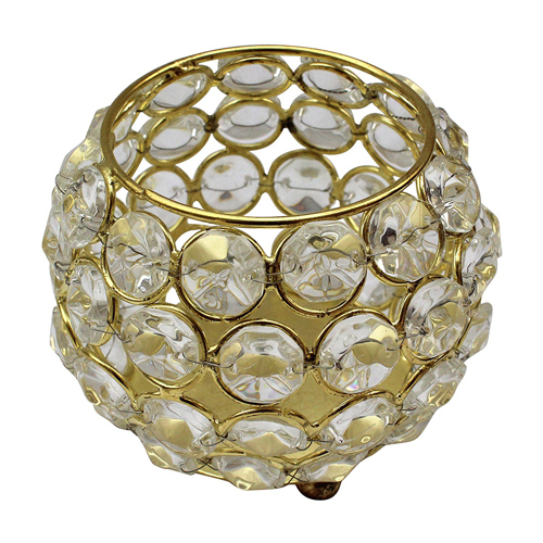 Round Crystal Tea Light Holder