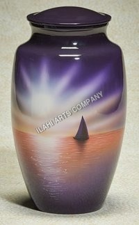 Evening Sun Hand Painted Urn