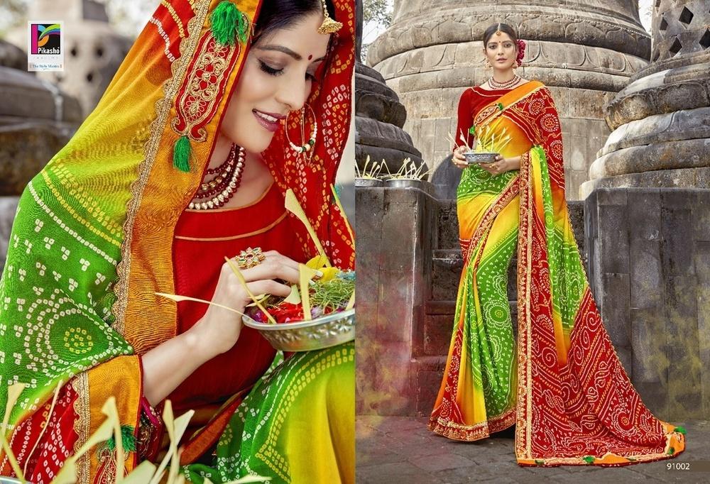 New Fancy Designer Bandhej Sarees
