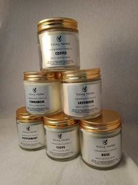 Herbal Candle Jars : Rose,Coffee, Mogra, Jasmine, Lavender, Basil, Etc