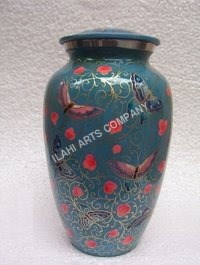New Design with Blue Butterfly Cloisonne Cremation Urns