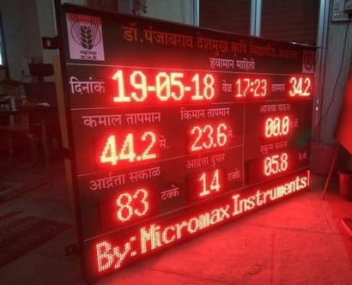 Temperature Monitoring Display Brightness: 5500 Cd/M