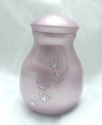 New Design Fancy Pink Paw Print Pet Urns