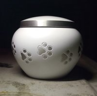 Majestic White Odyssey Pet Urn