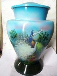 Beautiful Peacock Hand Painted Urn
