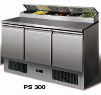 Under counter refrigerator with cold bain marie