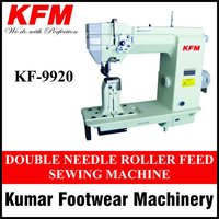 Double Needle Roller Feed Sewing Machine