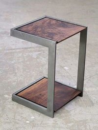 Mango Wood Bedside With Iron Legs