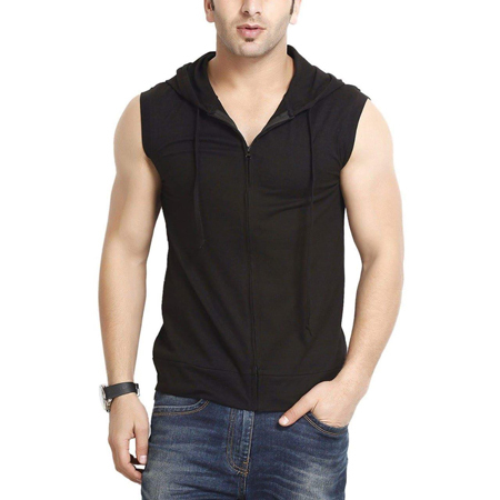 Mens Sleeveless Hooded T-Shirts