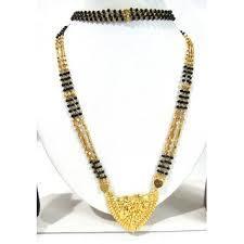 Long 3 Line Golden Pendant Mangalsutra Necklace