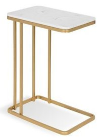 Iron Rod Table With Stone Top