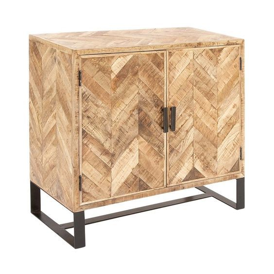 Industrial-3-Drawer Side Table
