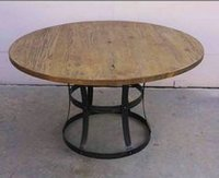 Round Dining Table With Wrought Iron Base