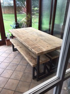 Dining Table With Live Edge Top