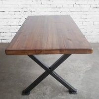 Dining Table With Cast Iron Bases