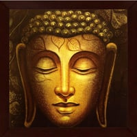 Buddha Face Framed Wall Painting
