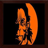 Lord Hanuman Framed Wall Painting