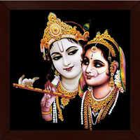 Radha Krishna Framed Wall Painting