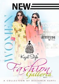 Kajal long designer kurtis with plazzo