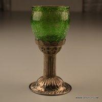 METAL GLASS T LIGHT HOLDER