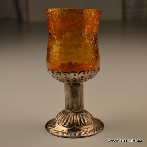 CREAK  GLASS CANDLE  HOLDER