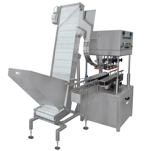 Jar Capping Machines with Elevator