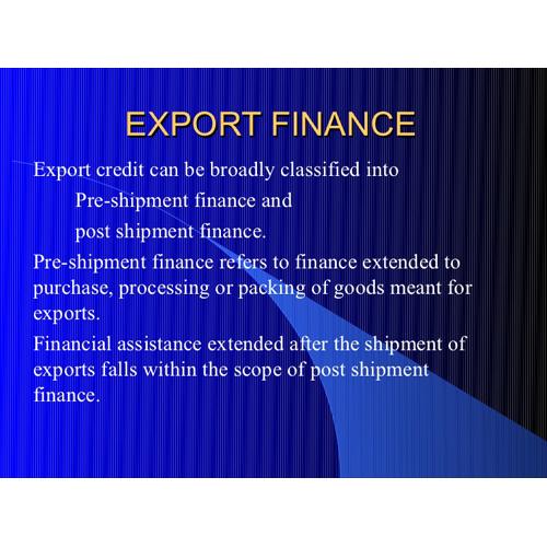 Exporter Loan Service