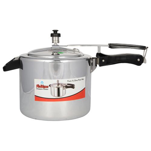 5 Ltr Pelikan Inner Lid Aluminium Pressure Cooker