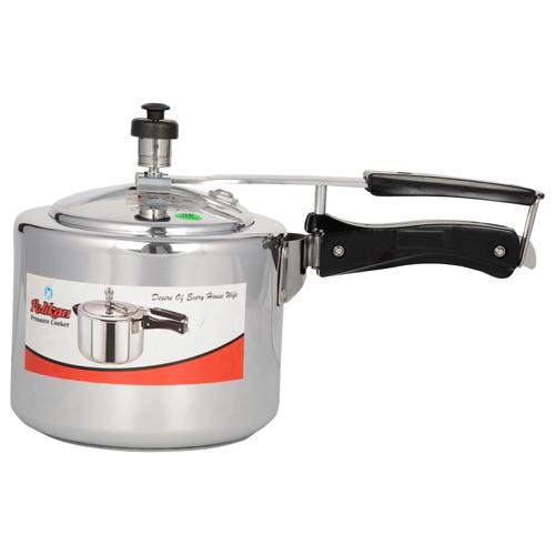 6.5 Ltr Pelikan Inner Lid Aluminium Pressure Cooker