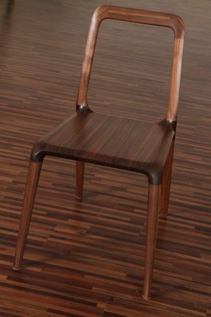 Square pipe with Wooden Seat Restaurant Chair
