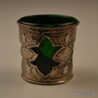 GREEN COLOR DECORATIVE HAND PAINTED VOTIVE HOLDER